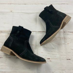 Crevo Black Leather Linley Ankle Western Boots